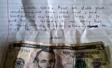 نامه عجیب دزد با وجدان به صاحبخانه (عکس)