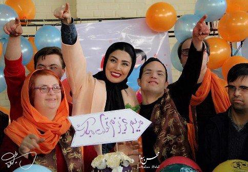 تصاویر جشن تولد خاص خانم بازیگر ایرانی (عکس)