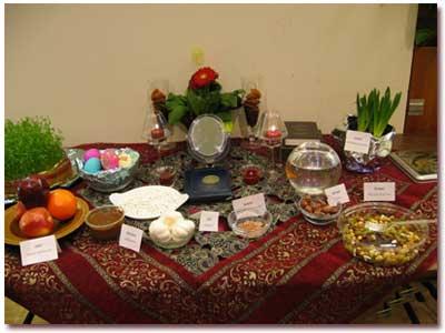 عکسهای تزئین سفره هفت سین عید نوروز 96