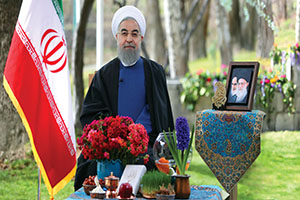 متن کامل پیام نوروزی رئیس جمهور حسن روحانی