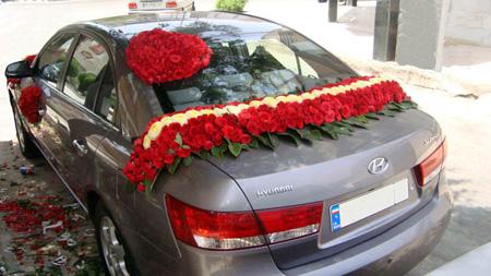جدیدترین و زیباترین مدلهای تزئین ماشین عروس (تصاویر)