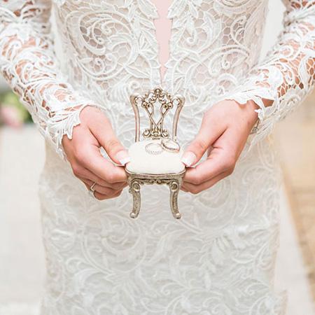 مدلهای جدید تزئین جای حلقه عروس و داماد