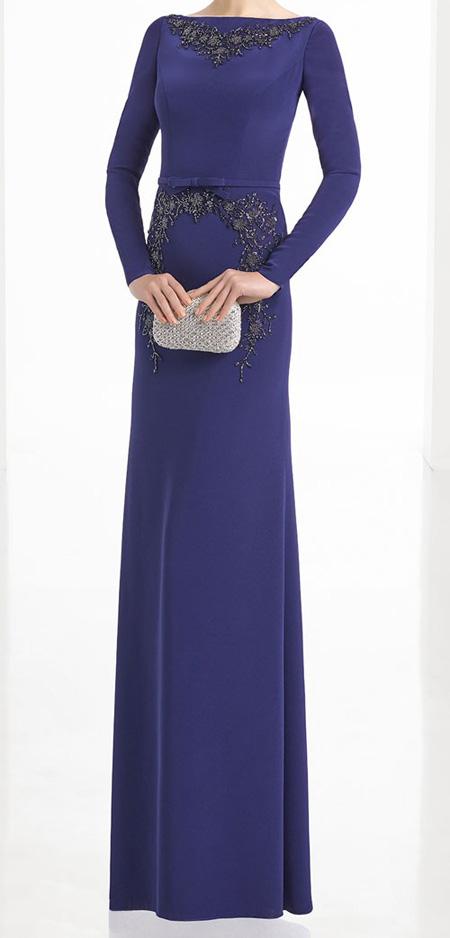 لباس مجلسی شیک و پوشیده سورمه ای 2019