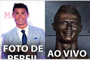 سوژه خنده شدن مجسمه رونالدو در زادگاهش (عکس)