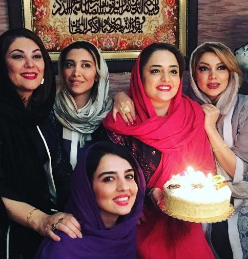 جشن تولد نرگس محمدی با بازیگران معروف (تصاویر)