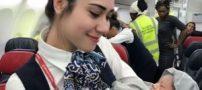 زایمان زن ترک در ارتفاع 42 هزار پایی جت مسافربری (تصاویر)