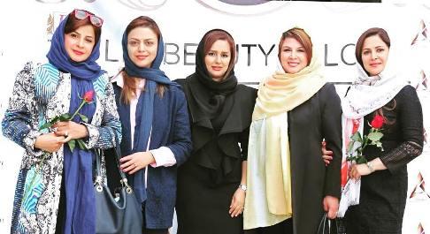 عکسهای بازیگران زن در افتتاحیه سالن زیبایی