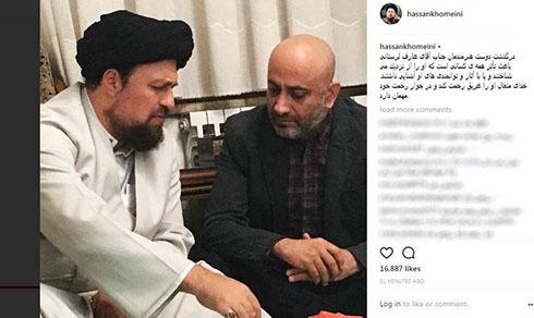 واکنش سید حسن خمینی و پسرش به فوت عارف لرستانی (عکس)