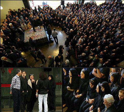 تصاویر هنرمندان در مراسم تشییع عارف لرستانی (فیلم و عکس)