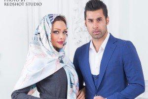 عکس های عاشقانه محسن فروزان و نامزدش نسیم