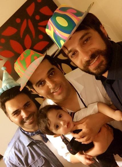 مراسم جشن تولد فرزند خواننده معروف کشور (تصاویر)