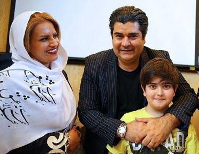 سالار عقیلی در کنار همسر و فرزندش (عکس)