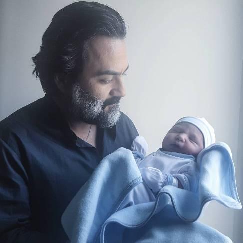 نوشته شاعرانه یغما گلرویی برای بدنیا آمدن فرزندش ( عکس )