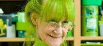 دنیای بسیار عجیب و سبز رنگ این خانم (عکس)