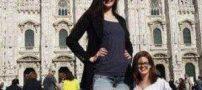 دختری ورزشکار با پاهای بسیار بلند (عکس)