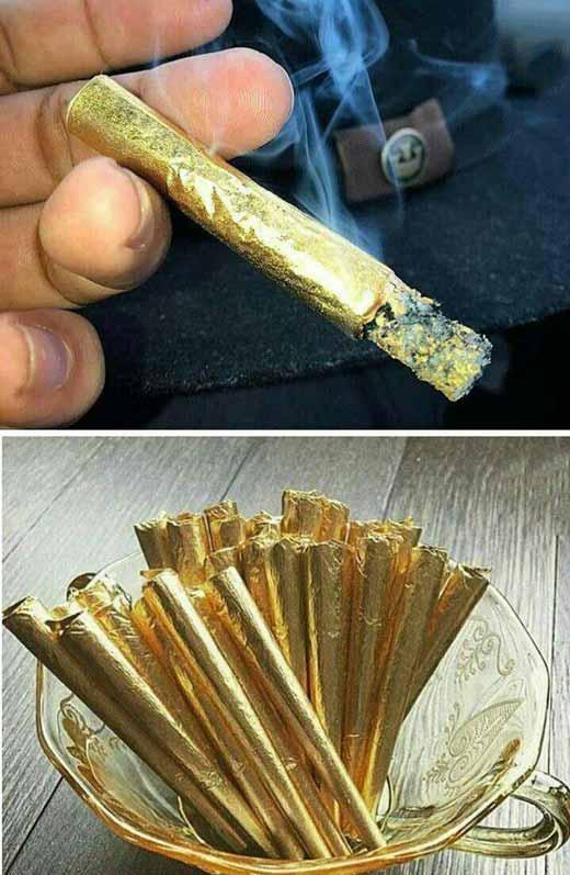 گرانترین نوع سیگار با روکش طلا برای پسران پولدار