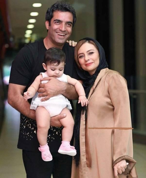 یکتا ناصر در کنار همسر و دختره زیبایش سوفیا