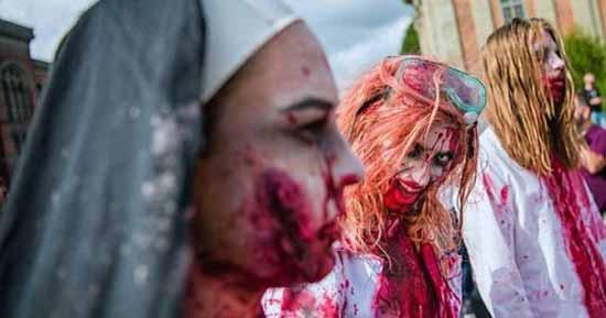 هجوم زامبی های ترسناک در شهر سوئد (عکس18+)