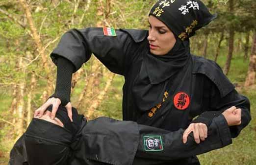 حرکات حیرت انگیز نینجا توسط این دختران ایرانی (عکس)