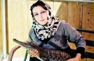 رابطه این دختر شجاع ایرانی با کروکدیل ها (عکس)