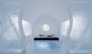 عکس های شگفت انگیز از هتل یخی در سوئد