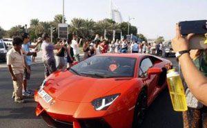 رالی ماشین های لوکس و خفن دنیا در دوبی (عکس)