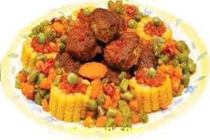 روش پخت کباب عربی مجلسی با کوفته سیب زمینی