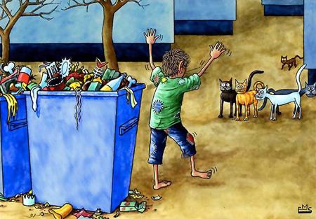 کاریکاتورهای اجتماعی با موضوع مبارزه با فقر