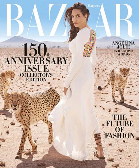 عکس های جدید آنجلینا جولی روی مجله مشهور