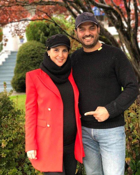 جدیدترین عکس سام درخشانی و همسر باردارش در آمریکا