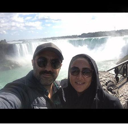 عکس جدید محسن تنابنده و همسرش در کانادا