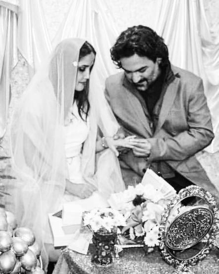 متن عاشقانه یغما گلرویی برای سالگرد ازدواجش +(عکس عروسی)