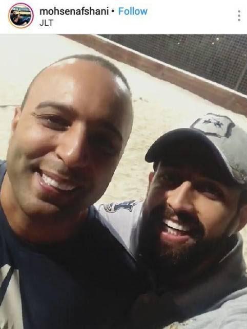 محسن افشانی در کنار خواننده مشهور لس انجلسی (عکس)
