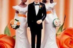 جنجال کارت عروسی یک داماد و دو عروس (عکس)