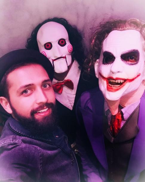 شرکت محسن افشانی در جشن هالووین (عکس)