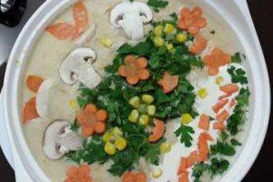 مدلهای تزئین سوپ جو با شیر