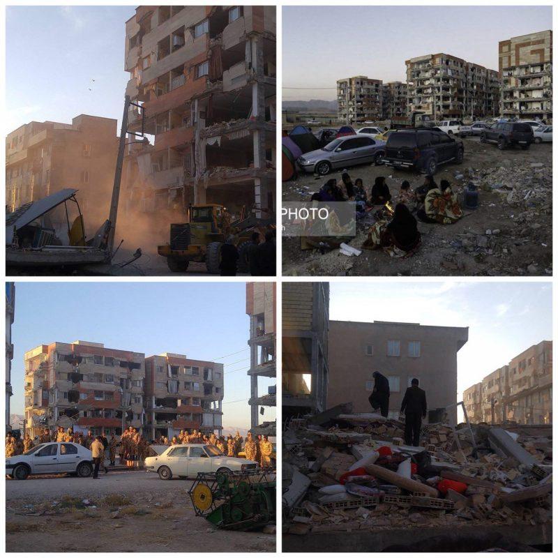 انتقاد بازیگر معروف از تخریب مسکن مهر در زلزله کرمانشاه (تصاویر)
