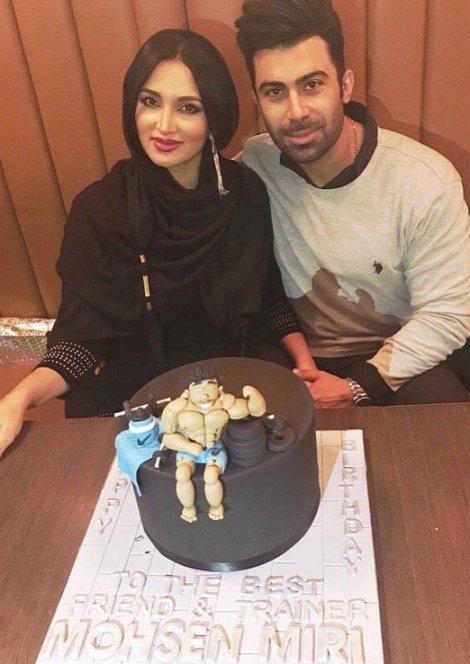 عکس کیک جشن تولد لاکچری همسر روناک یونسی