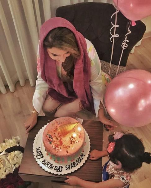 عکسهای جشن تولد 40 سالگی شبنم قلیخانی