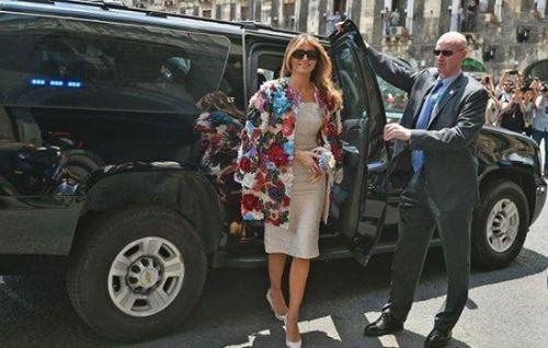 تیپ های ملانیا ترامپ جنجالی شد + تصاویر