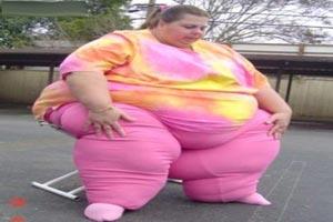 آیا چاق ترین زن دنیا را دیده اید (عکس)