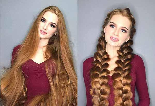 دختری با جذاب ترین چهره و زیباترین مو
