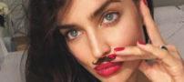 چهره ی زیبای ایرینا شایک بدون هیچ آرایشی (عکس)