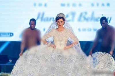 لباس جالب این مدل زیبای مصری جنجالی شد (عکس)