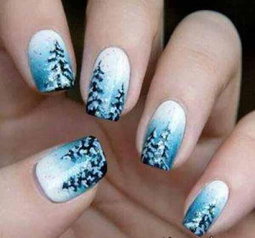 طراحی های بسیار شیک ناخن مخصوص زمستان