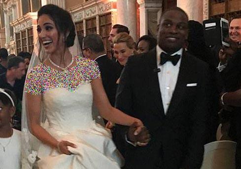 ازدواج مجلل این مدل ایرانی با یک سیاهوست (عکس)