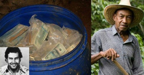 پیدا شدن یک بشکه پول در توسط این کشاورز (عکس)