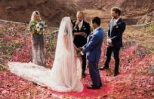 عروسی مهیج و ترسناک این زن و مرد (عکس)