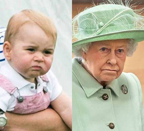 ژست های بسیار خنده دار ملکه الیزابت