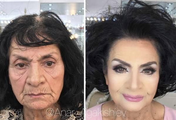 جادوی آرایش برای این پیرزن 80 ساله (عکس)